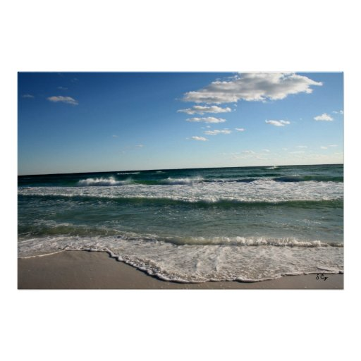 Another Day at the Beach Poster, S Cyr Poster