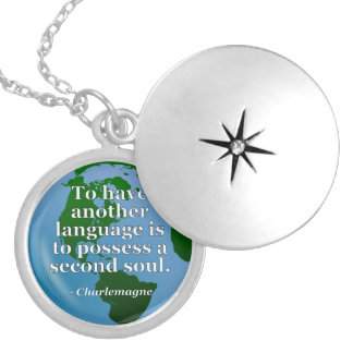 Another language soul Quote. Globe Pendant