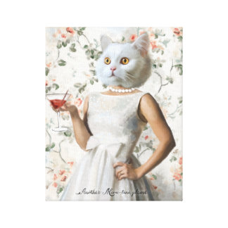 Another Meow-Tini, Please Stretched Canvas Print
