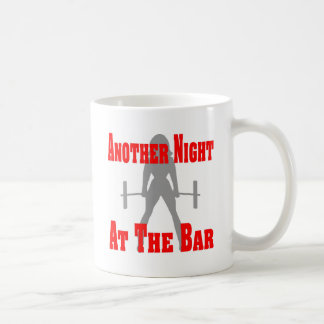 Another Night At The Bar Female Weightlifting Basic White Mug