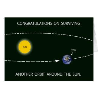"""""""Another Orbit Around the Sun"""" Birthday Card"""