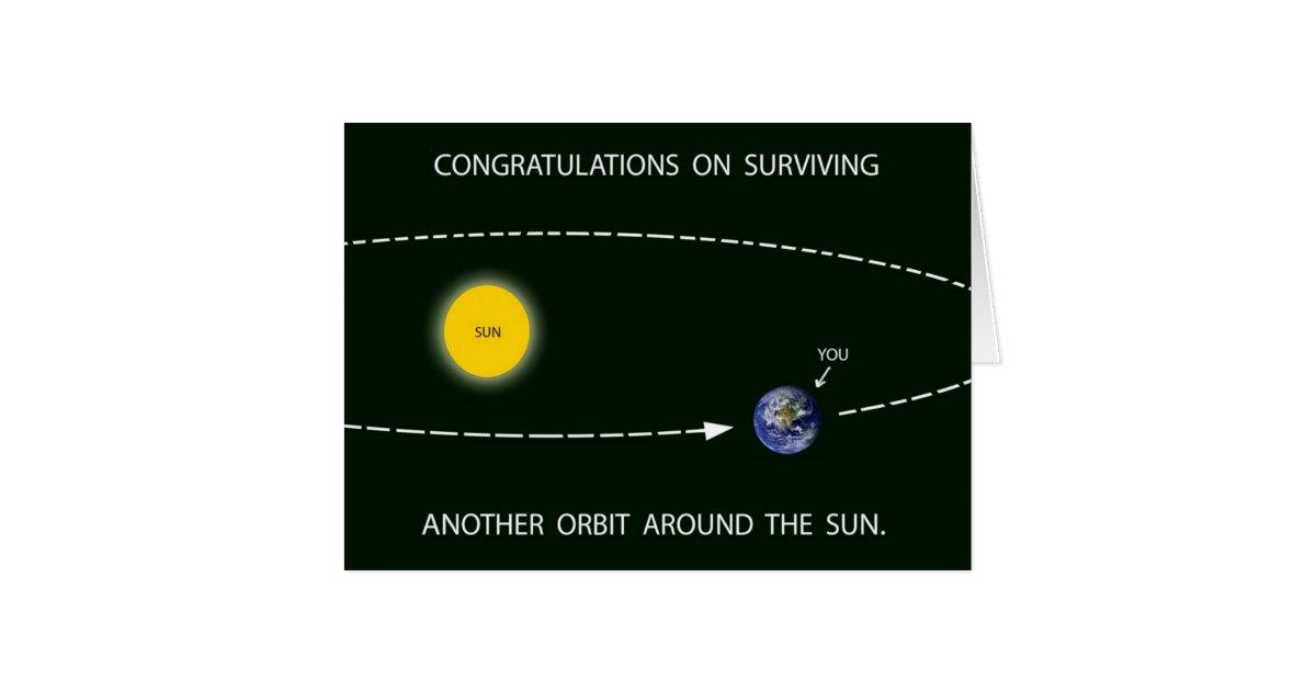 u0026quot another orbit around the sun u0026quot  birthday card