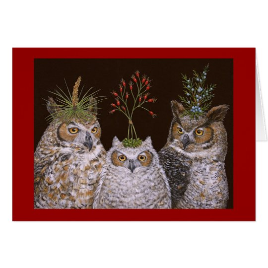 Another owl family Christmas card
