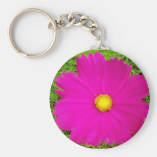 Another Pink Cosmos Basic Round Button Key Ring