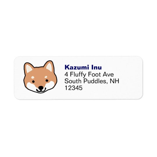 Another Shiba Inu Face Return Address Label