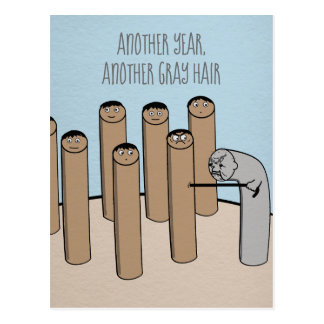 Another Year Gray Hair Funny Old Birthday Card