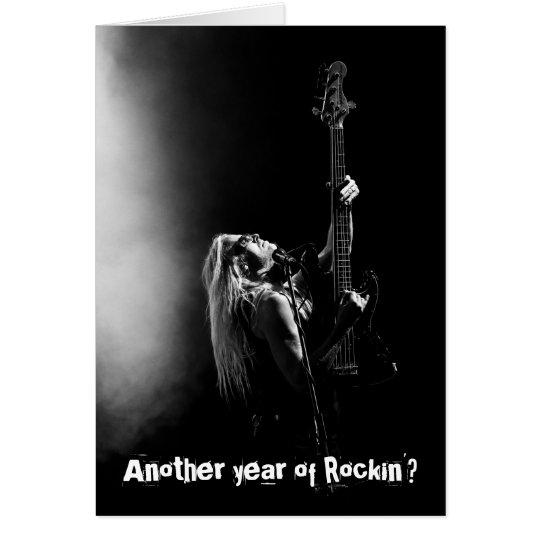 Another Year of Rockin' Bass Guitar Birthday Card