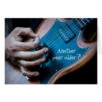 Another year older electric guitar birthday card
