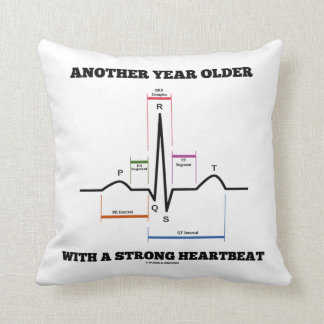 Another Year Older With A Strong Heartbeat ECG/EKG Cushion
