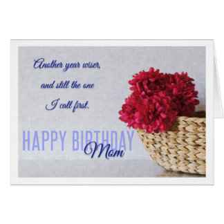 Another Year Wiser Mom Birthday Card