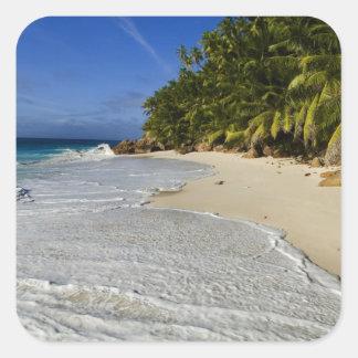Anse Victorin Beach 2 Square Sticker