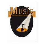 """ansichtkaart """"Music"""" design Wens Kaart"""
