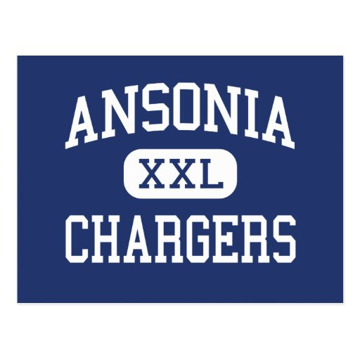 Ansonia - Chargers - High - Ansonia Connecticut Postcard