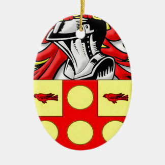 Anstey Coat of Arms Ceramic Oval Decoration