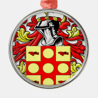 Anstey Coat of Arms Round Metal Christmas Ornament