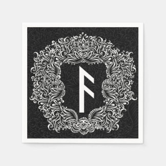 Ansuz-rune / Prosperity, Vitality Disposable Serviettes