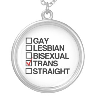 ANSWER TRANSEXUAL -.png Silver Plated Necklace