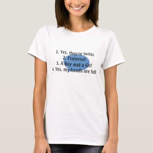 answering twin questions tee