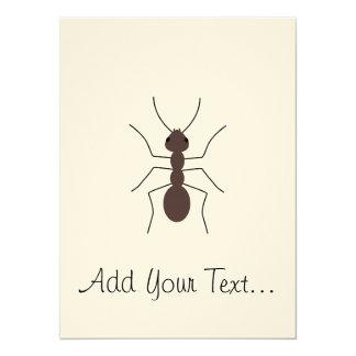 Ant 14 Cm X 19 Cm Invitation Card