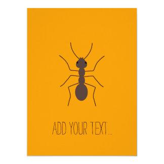 Ant 17 Cm X 22 Cm Invitation Card