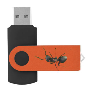 Ant Abstract Swivel USB 2.0 Flash Drive