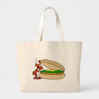 Ant And Cheeseburger Tote Bags