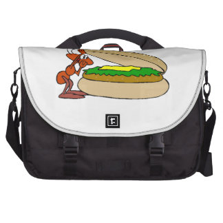 Ant And Cheeseburger Laptop Bags
