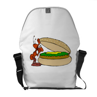 Ant And Cheeseburger Courier Bags