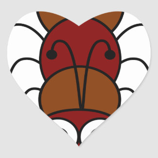 Ant Heart Sticker