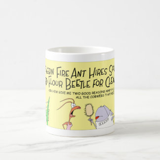 Ant hires a beetle coffee mug