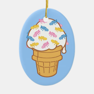 Ant Ice Cream Christmas Ornament