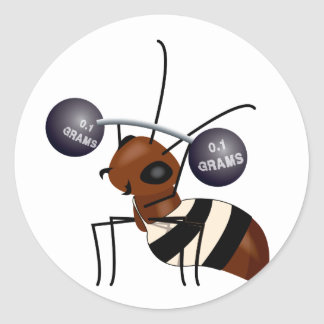 Ant lifting classic round sticker