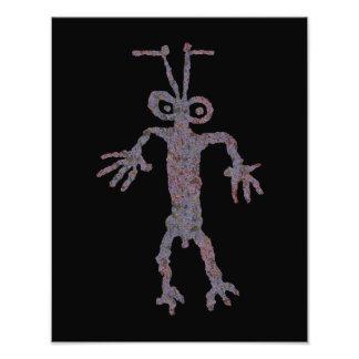 Ant Man Petroglyph Art Photo