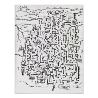 ant maze poster