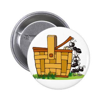 Ant Picnic Basket 6 Cm Round Badge