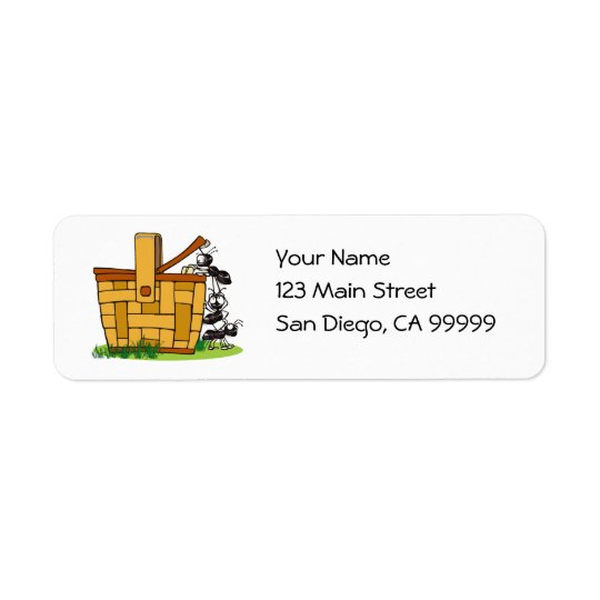 Ant Picnic Basket Return Address Label