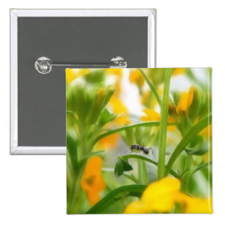 Ant Portrait With Siberian Wallflowers Buttons