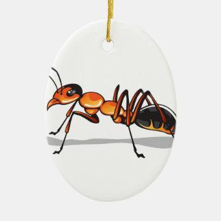 Ant vector christmas ornament