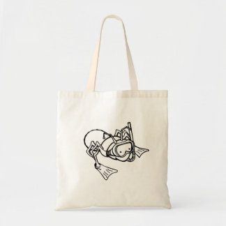 Ant Wearing Snorkel Tote Bags