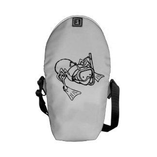 Ant Wearing Snorkel Messenger Bag
