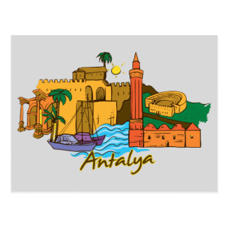 Antalya, Turkey Famous City Postcard