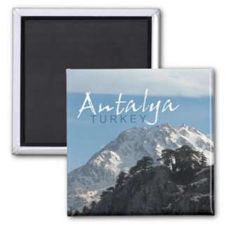 Antalya Turkey Mountain Scene Fridge Magnet
