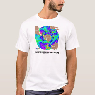 Antarctic Circumpolar Current (Ocean Current Map) T-Shirt