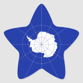 Antarctic Treaty Flag. Antarctica Star Sticker