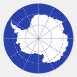 Antarctic Treaty Flag. Antarctica Sticker