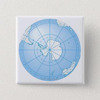 Antarctica 2 15 cm square badge