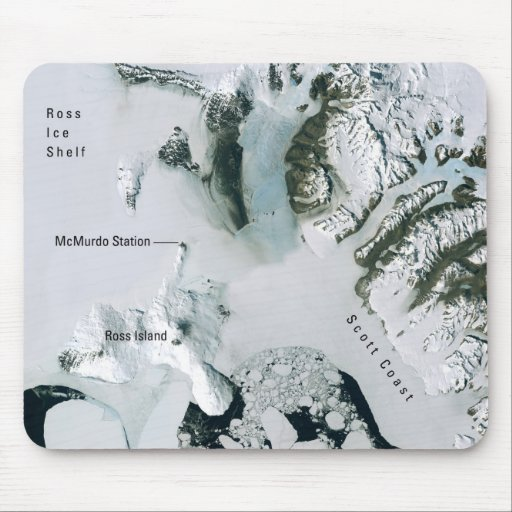 Antarctica and McMurdo Station from Space Mouse Pad
