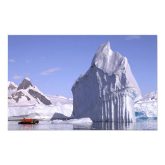 Antarctica, Antarctic Peninsula. Zodiak and Art Photo