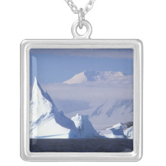 Antarctica, Boothe Island, Afternoon sun Silver Plated Necklace