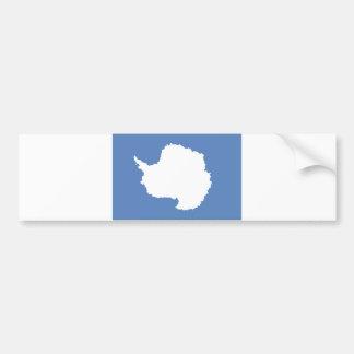 Antarctica continent flag symbol bumper sticker